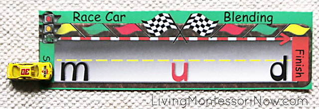 Beginning Reading - Race Car Blending Activity