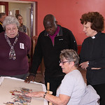 Archbishop, Shirley, Doreen and Fran, by Stamford Bridge Tapestry Project