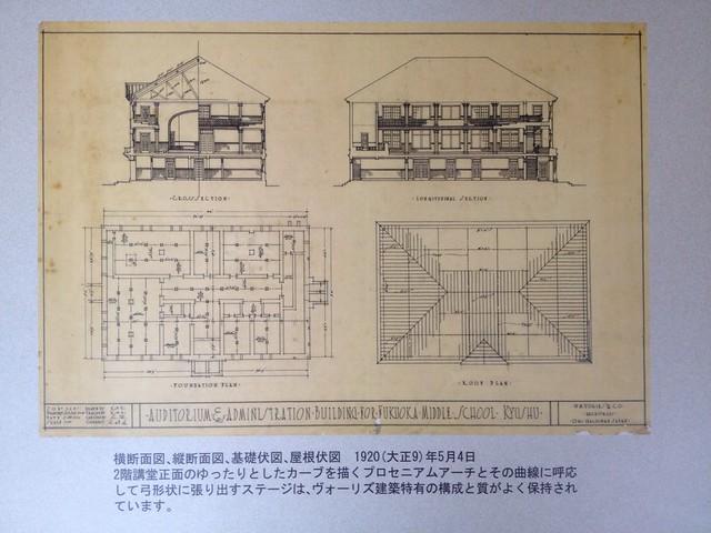 西南学院大学博物館の設計図