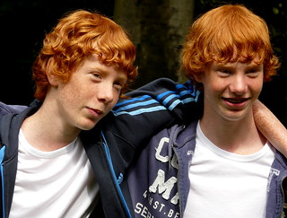 Red head twins