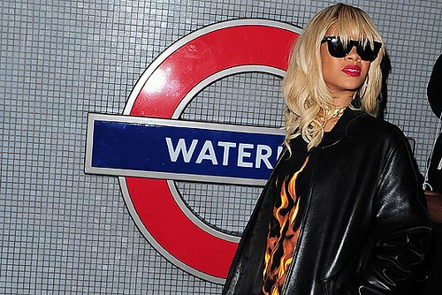 Rihanna at Waterloo Tube