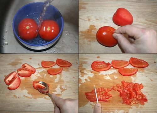 12 - Tomaten schälen und würfeln / Peel & dice tomatoes