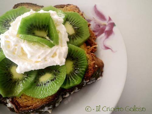 Colomba crema e kiwi