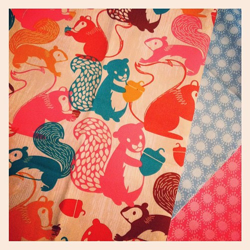 123:365 Squirrel fabric... I'm in love!!