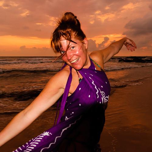 ocean travel sunset sea sky woman cloud beach water girl asia jessica srilanka bentota