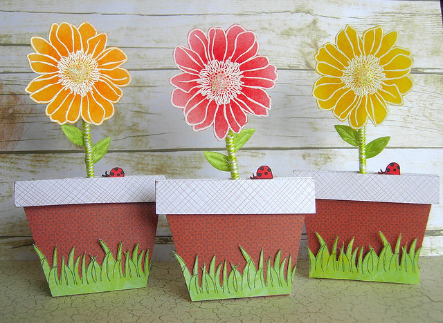 Flower Pot Treat Containers