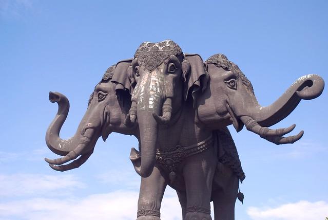Three headed elephant, Bangkok, Thailand 2008.