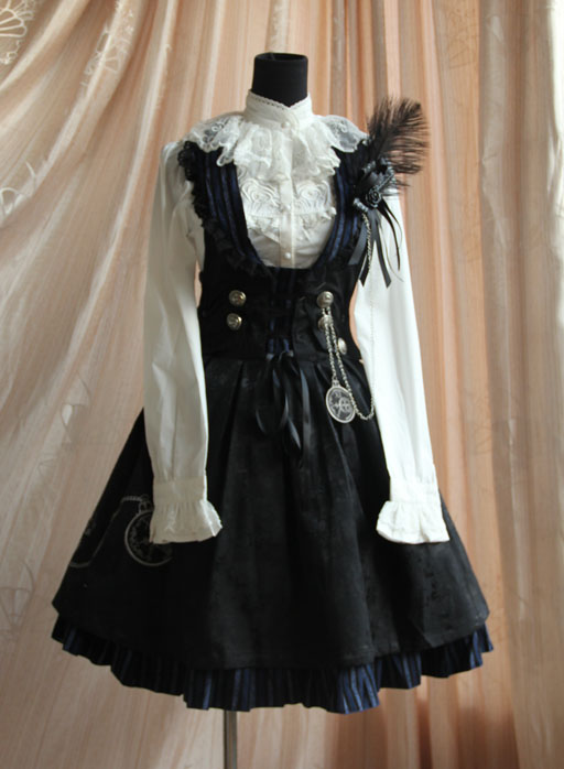 Infanta_Flower_of_Time_Button_Corduroy_Lolita_Sundress