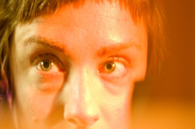 crazy eyes.