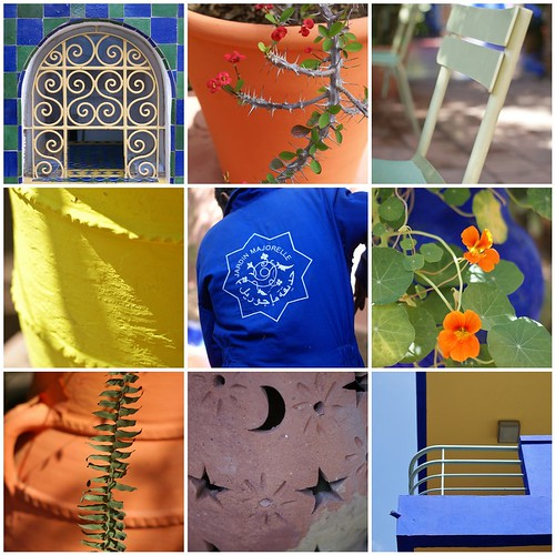 jardin majorelle by wood & wool stool