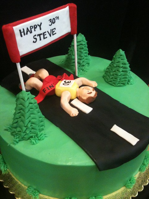 Birthday Cake Pictures For Runners : Runners cake Flickr - Photo Sharing!