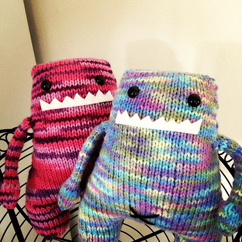 Monsters are finally finished!!! #knitting #monster