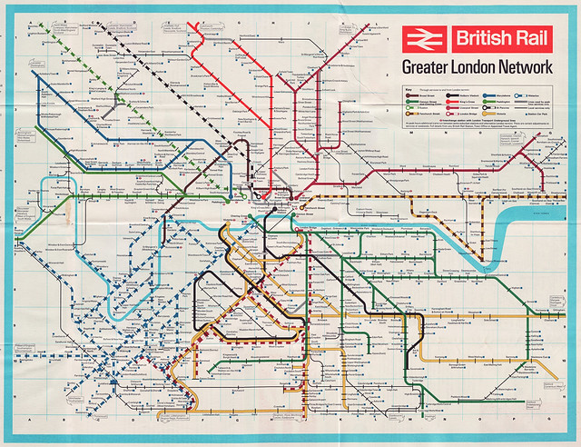 BR london network map 1965 6