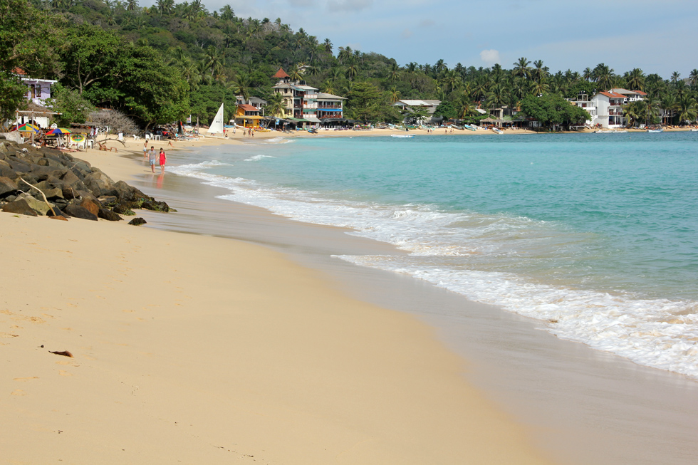 Unawatuna Beach in Sri Lanka