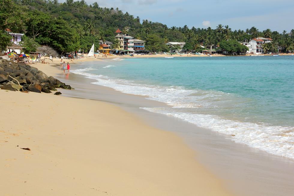 Unawatuna Beach in Sri Lanka