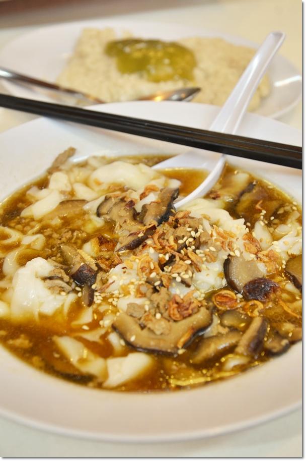 Chee Cheong Fun with Mushroom Gravy