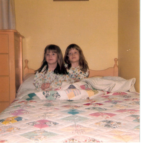 Me & my sister Annie, circa 1975, under one of these quilts.