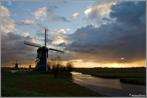Rainy days in Kinderdijk