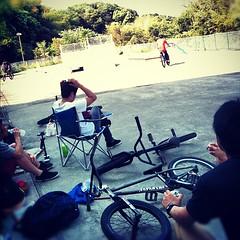 5日の小松パーク。#bmx #park