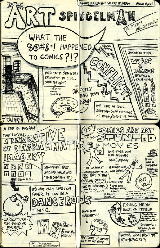 What the #$%@ Happened to Comics (Lecture Sketchnotes)