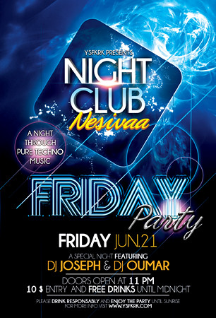 Night Club Party Flyer Template - a photo on Flickriver