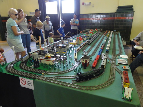 Watching the model trains at Union Station