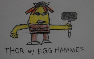 thor with egg hammer