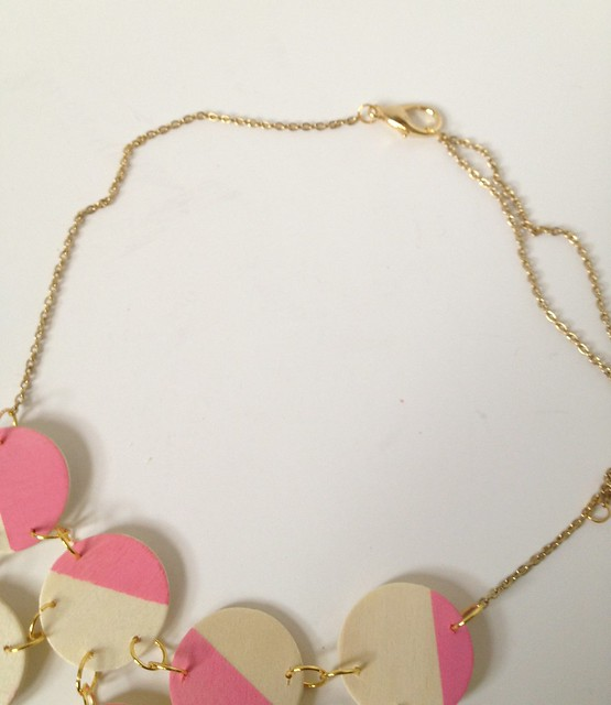Pink + Wood Bib Necklace 9