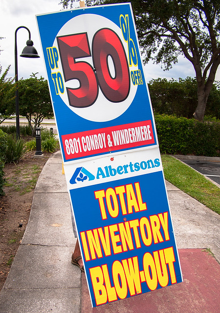 Albertsons Total Inventory Blow-Out