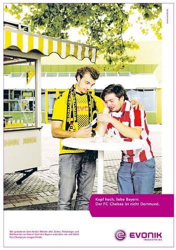 Evonik-Werbung zum DFB-Pokalsieg von Borussia Dortmund vs. FC Bayern München