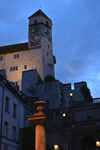 Rapperswil Castle at twilight