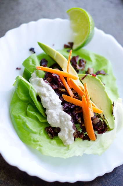 Hibiscus and Red Walnut Lettuce Wraps by Mary Banducci 2