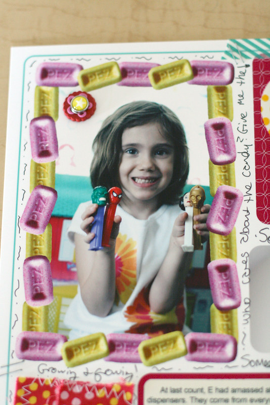 Eliza's Pez Collection | Hybrid Page with Funky Frame
