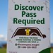 Discover Pass Required Sign by wastateparks