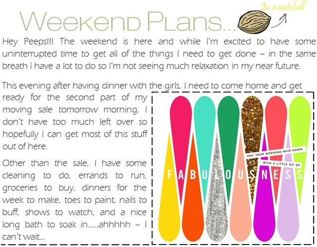 weekend plans 5.18.12