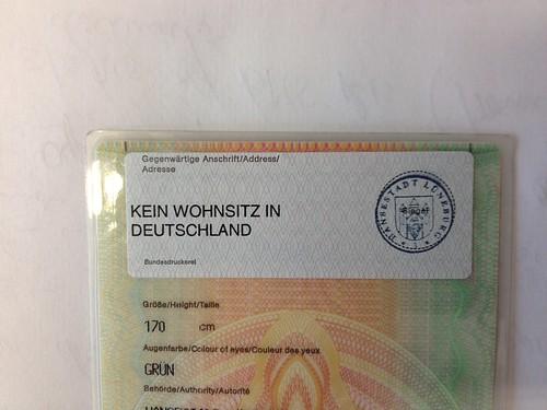 Kein Wohnsitz in Deutschland