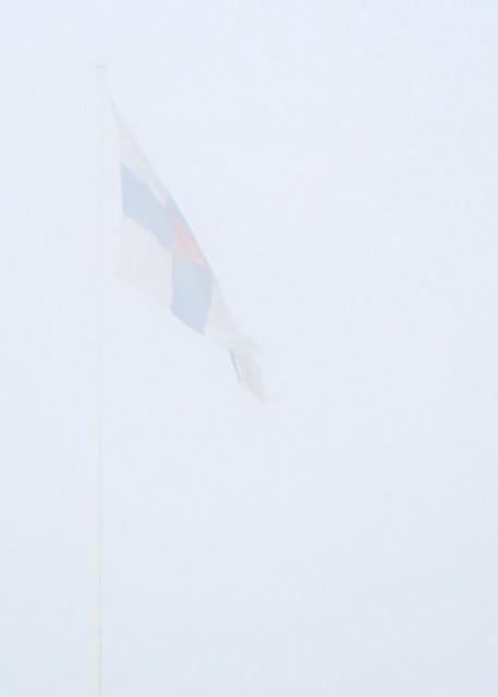 flag in fog