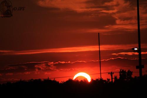 sunset sky sun moon landscape solar eclipse solareclipse