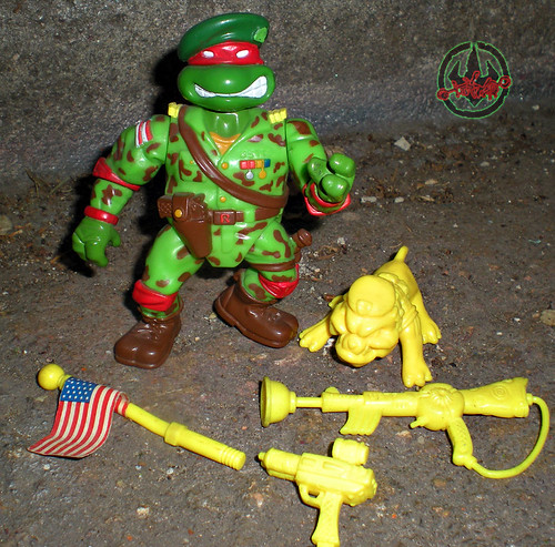 Mutant Military  TEENAGE MUTANT NINJA TURTLES :: RAPH, THE GREEN TEEN BERET i (( 1991 ))