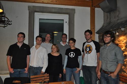 Amelia ANDERSDOTTER avec les candidats du Parti Pirate Alsace
