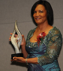 Machree Garrett Gibson with Award