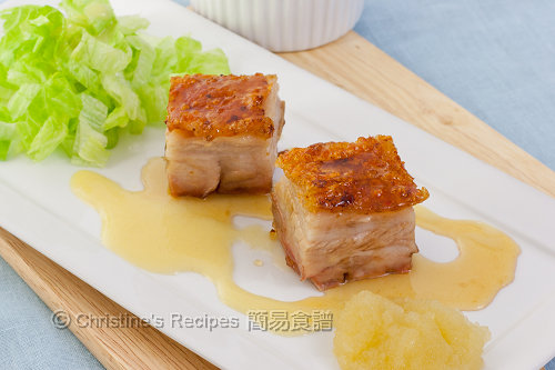 燒肉配蘋果蓉及芥末油醋汁 Roast pork belly with apple puree and cider vinegar vinaigrette02