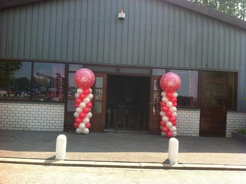 Ballonpilaar Breed Rond Just Married Pegasus Ridderkerk