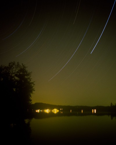 Star Trail of Paradox Lake