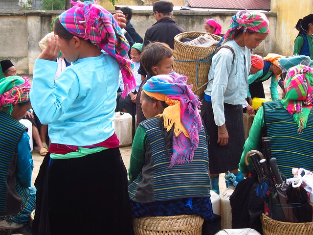 Hmong Women at Meo Vac Market