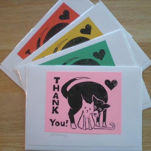 block print cards 2009