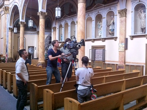 Movie Shoot at Mary Help of Christians Church in East Village