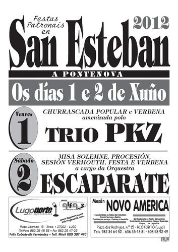 A Pontenova 2012 - Festas patronais de Santo Estevo - cartel