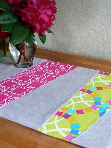 Wonky Stripe Table Runner by Jenny Bartoy