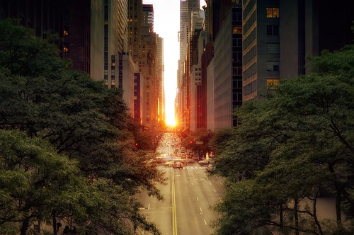 Manhattanhenge on May 31, 2012